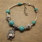 Turquoise Owl Bracelet - $13 with FREE Shipping!